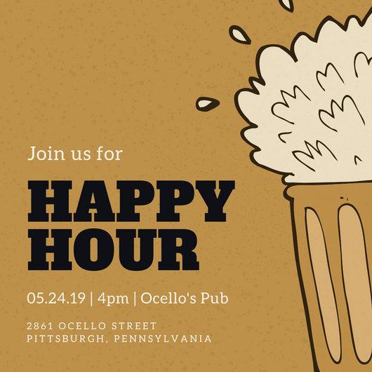 Holiday Happy Hour Invitation Inspirational Happy Hour Invitation Templates Canva