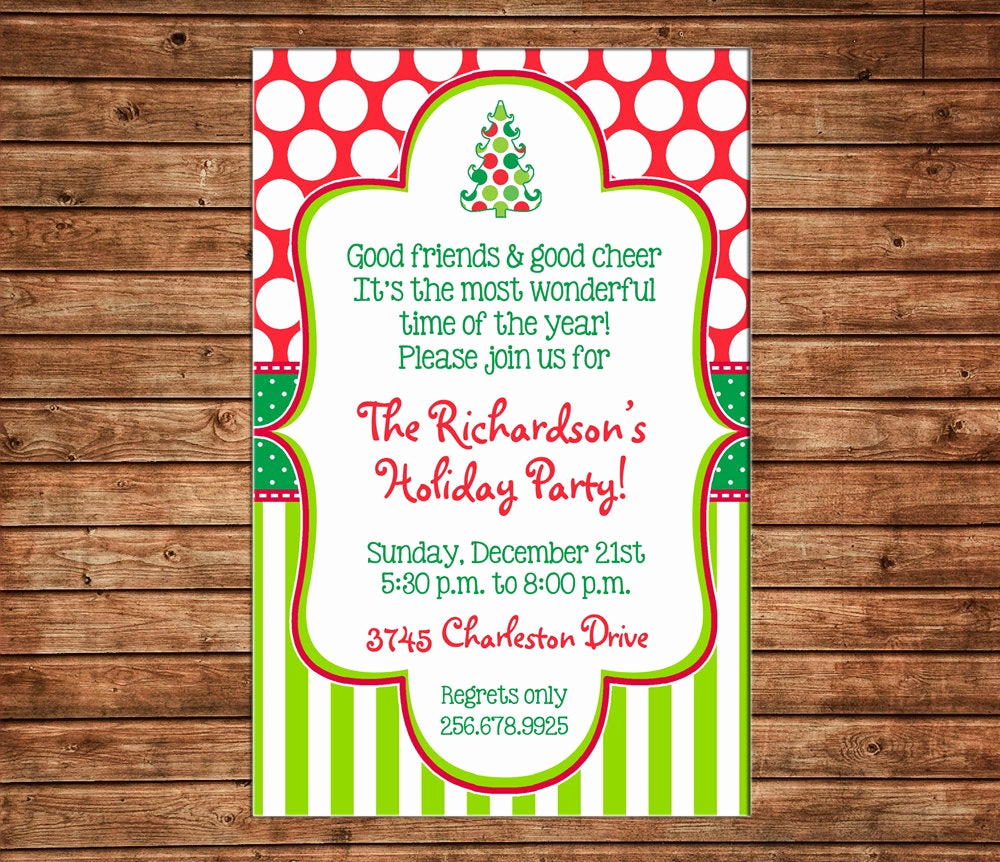 Holiday Open House Invitation Wording Awesome Christmas Holiday Invitation Open House Party Can