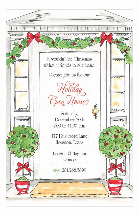 Holiday Open House Invitation Wording Awesome Holiday Open House Invitations
