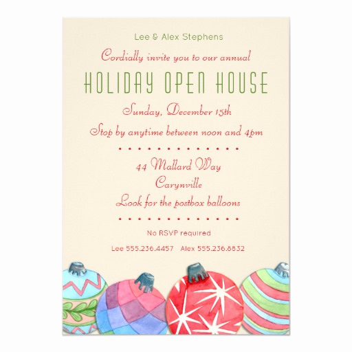 Holiday Open House Invitation Wording Beautiful 2016 Christmas Holiday Open House Party Invitation