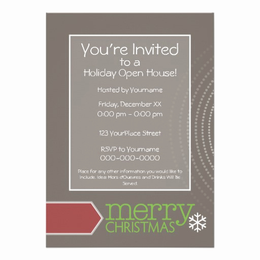 Holiday Open House Invitation Wording Beautiful Holiday Open House Invitation