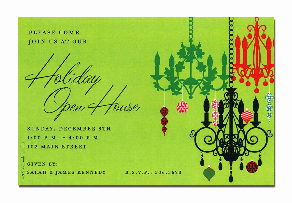 Holiday Open House Invitation Wording Elegant Christmas Open House Invitations Christmas Open House