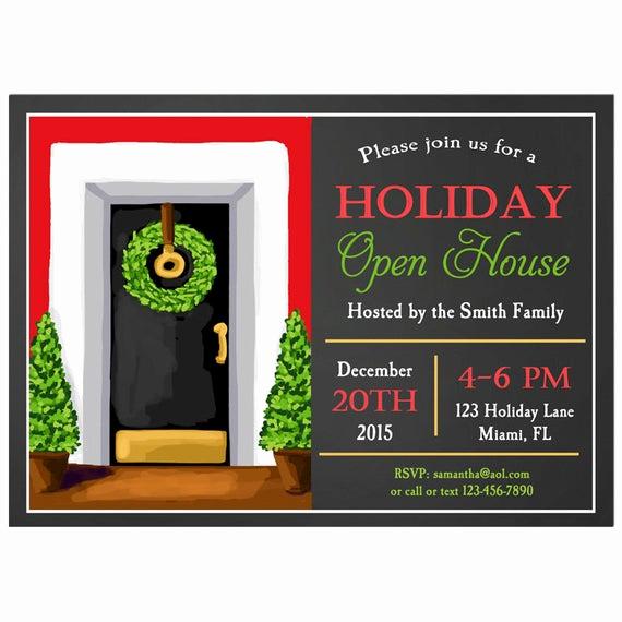 Holiday Open House Invitation Wording Elegant Items Similar to Holiday Open House Invitation Printable
