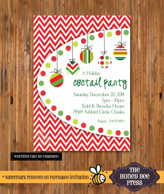 Holiday Open House Invitation Wording Lovely Christmas Cocktail Party Invitation Holiday Open House
