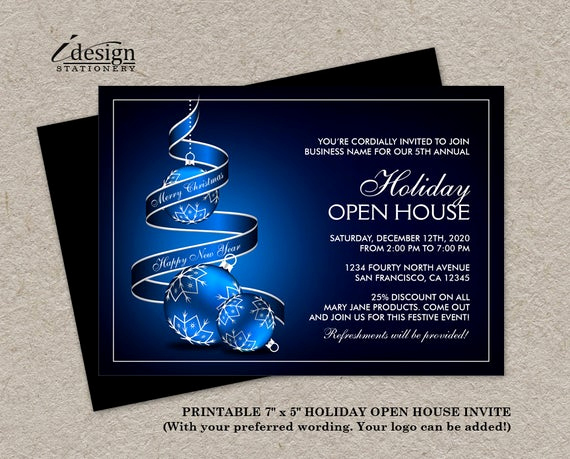 Holiday Open House Invitation Wording Lovely Elegant Business Holiday Open House Invitations Corporate