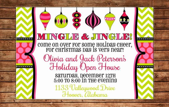 Holiday Open House Invitation Wording Lovely Holiday Christmas ornament Swap Dirty Santa Girls Party Open