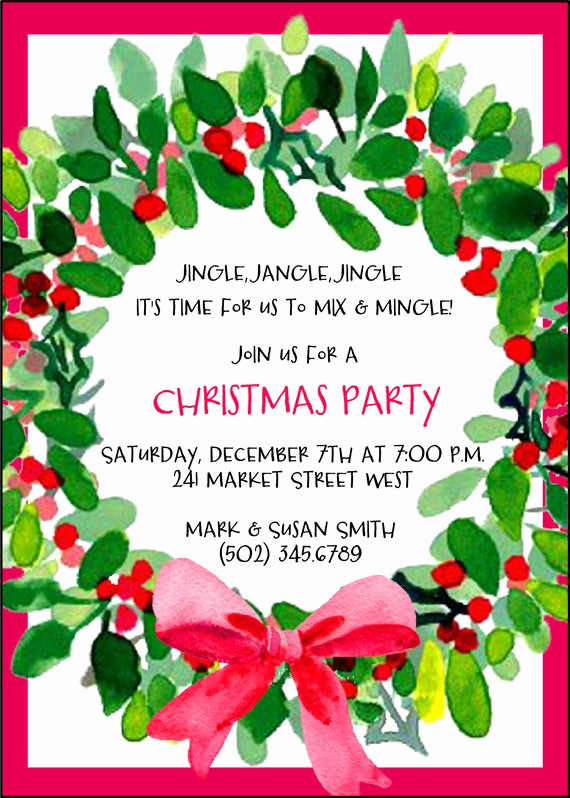 Holiday Open House Invitation Wording Luxury Christmas Party Invitation Holiday Party by