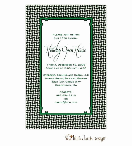 Holiday Open House Invitation Wording New Holiday Open House Invitation