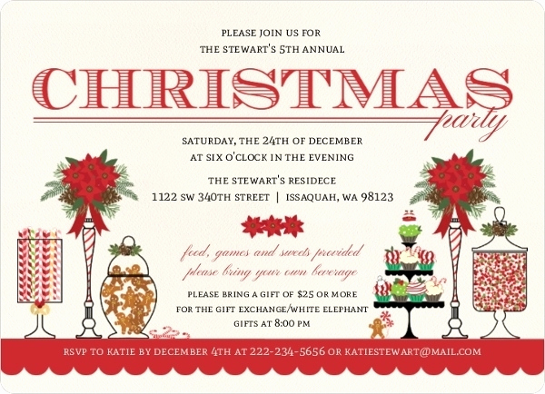 Holiday Party Invitation Ideas Elegant Christmas Dinner Invitation Wording Ideas Cobypic