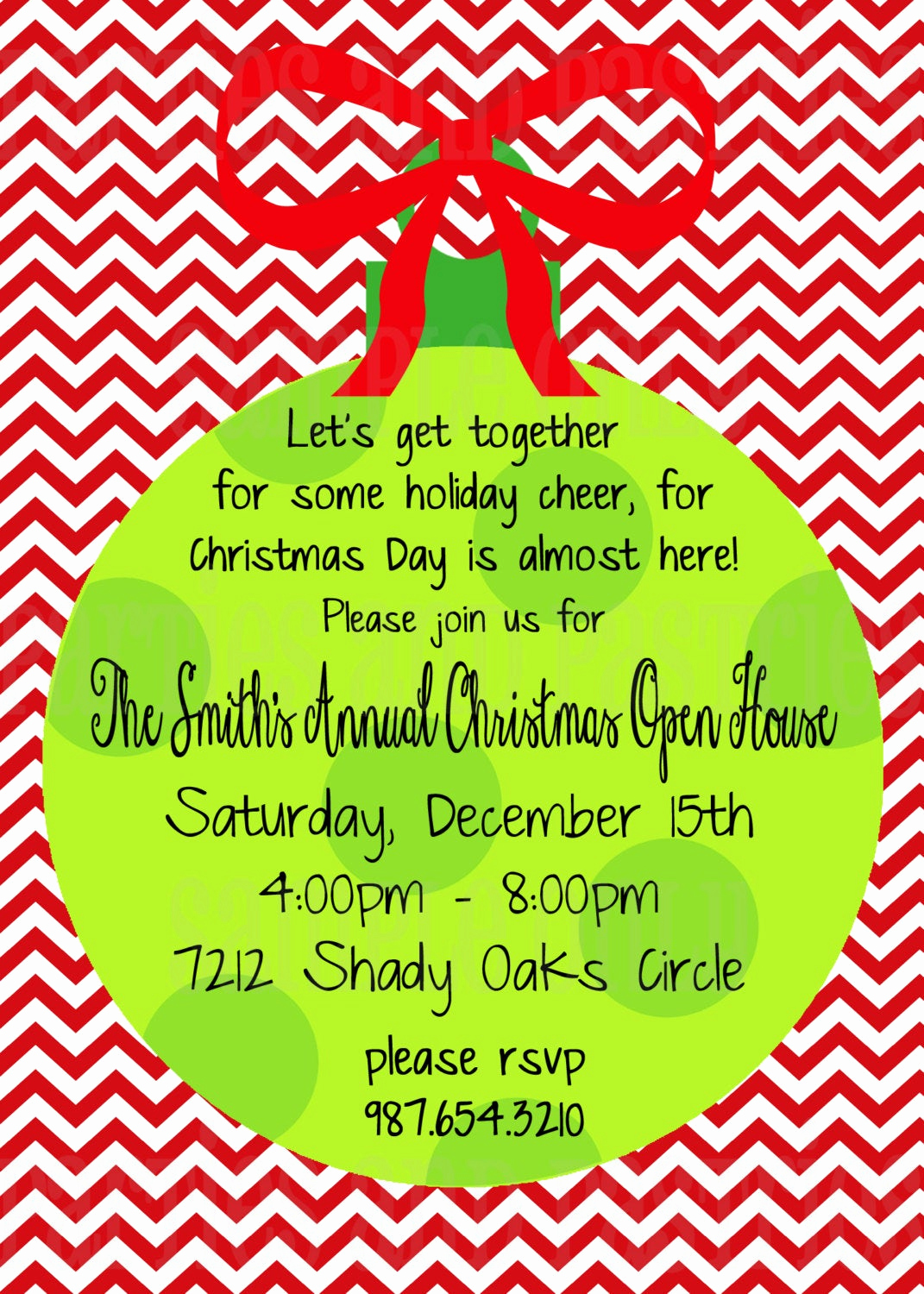 Holiday Party Invitation Ideas New Christmas Open House Invitation Holiday Party Invitation