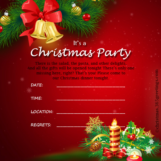 Holiday Party Invitation Template Beautiful Christmas Invitation Template and Wording Ideas