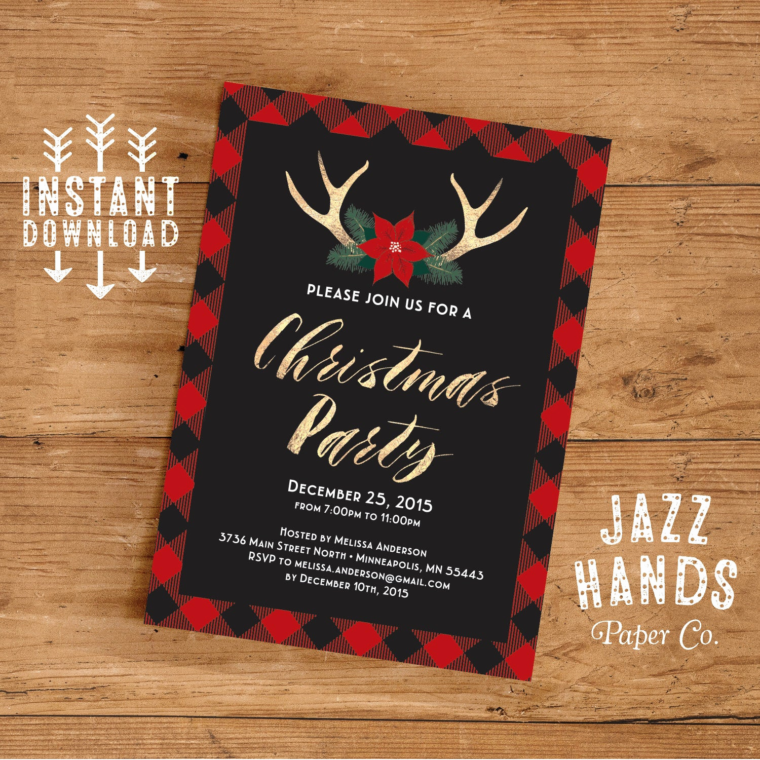 Holiday Party Invitation Template Beautiful Christmas Party Invitation Template Diy Printable Holiday