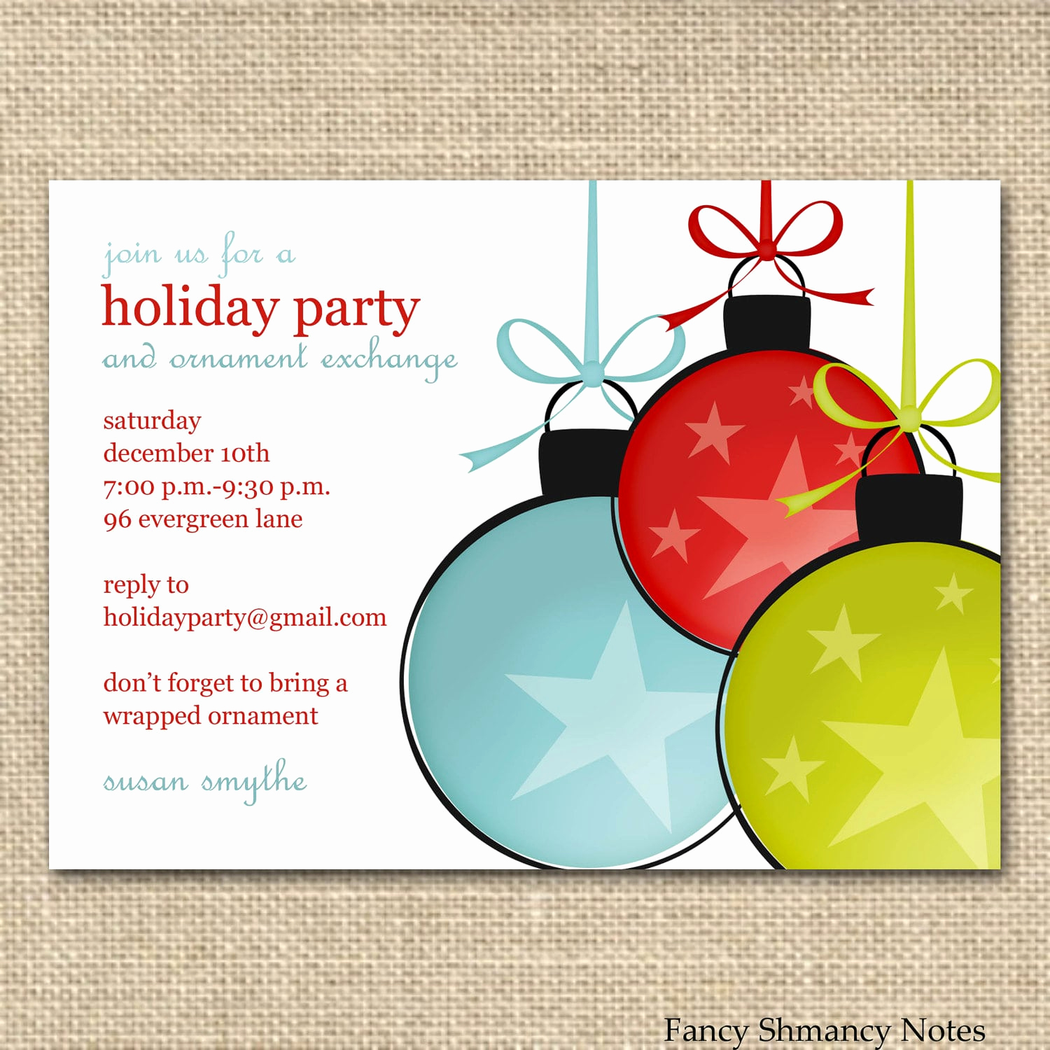 Holiday Party Invitation Template Best Of Christmas Fice Party Invitations