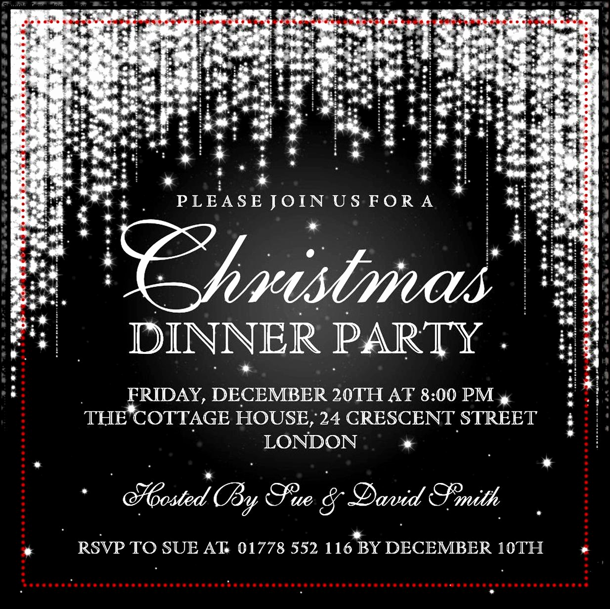 Holiday Party Invitation Template Lovely Christmas Invitation Template
