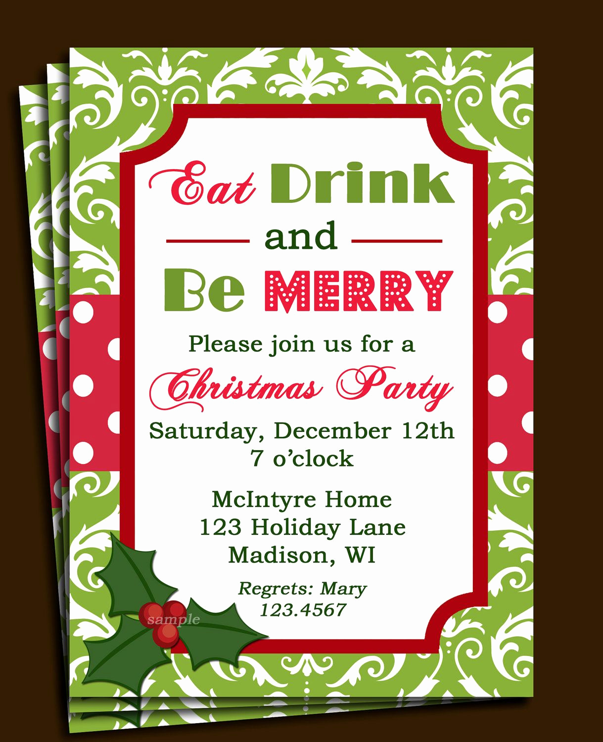 Holiday Party Invitation Template Lovely Free Printable Fice Christmas Party Invitations