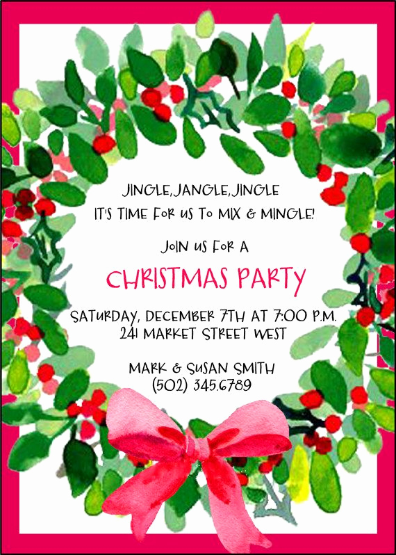 Holiday Party Invitation Template New Best 25 Christmas Open House Ideas On Pinterest