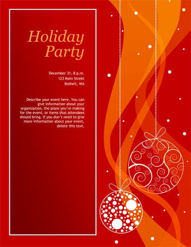 Holiday Party Invitation Template Unique 14 Free Diy Printable Christmas Invitations Templates