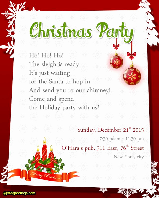 Holiday Potluck Invitation Wording Fresh Christmas Party Invitation Wording Templates