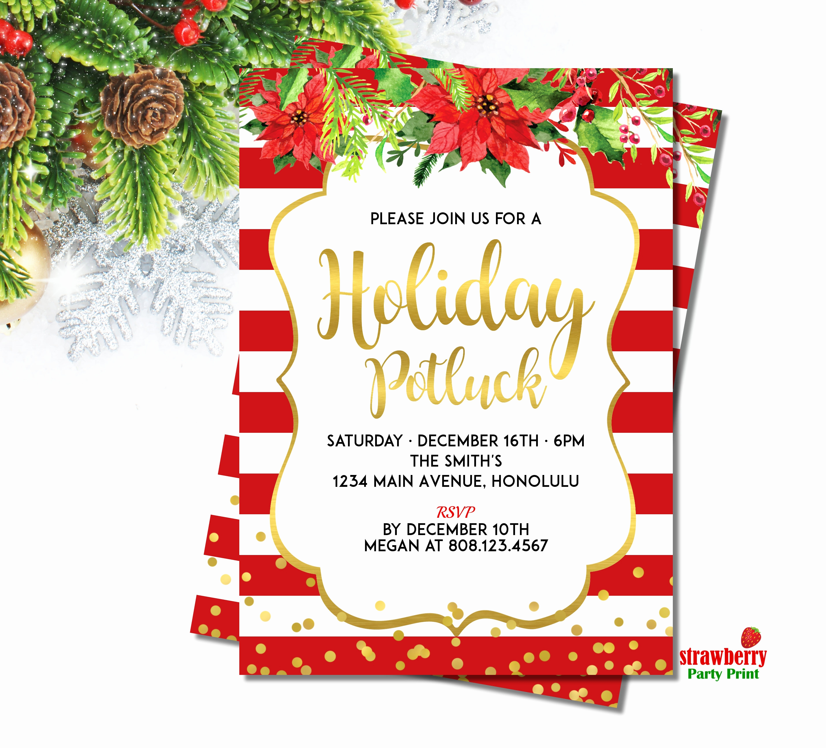 Holiday Potluck Invitation Wording Lovely 19 Fice Potluck Invitation Fice Party Invitation 7