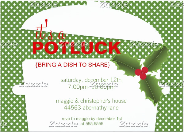 Holiday Potluck Invitation Wording Lovely 6 Holiday event Invitations Designs Templates