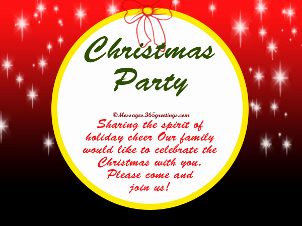 Holiday Potluck Invitation Wording Lovely Christmas Party Invitation Wording 365greetings