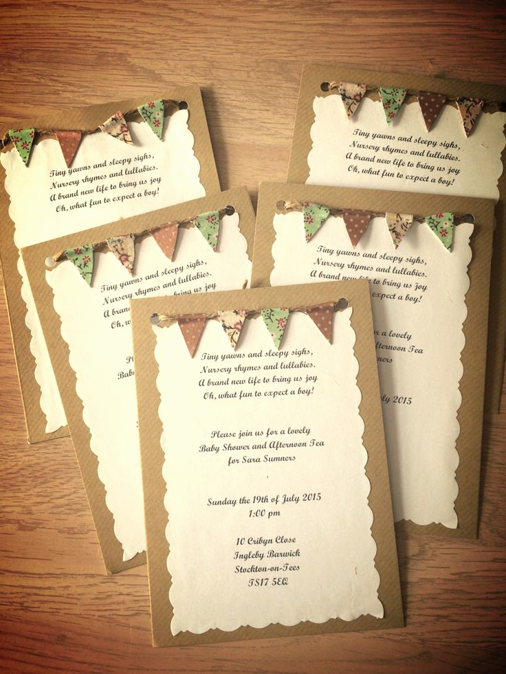 Homemade Baby Shower Invitation Ideas Elegant Best 25 Rustic Baby Showers Ideas On Pinterest