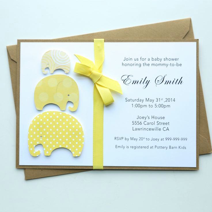 Homemade Baby Shower Invitation Ideas Inspirational 25 Best Ideas About Baby Shower Invitations On Pinterest