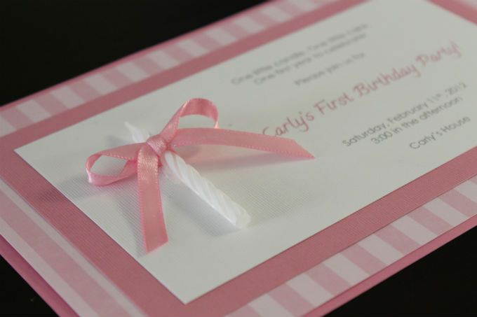 Homemade Birthday Invitation Ideas Lovely Diy E Candle Homemade 1st Birthday Invitation