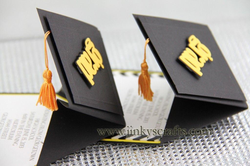 Homemade Graduation Invitation Ideas Best Of 3d Graduation Cap Pop Up Invitations Diy Kit or Fully