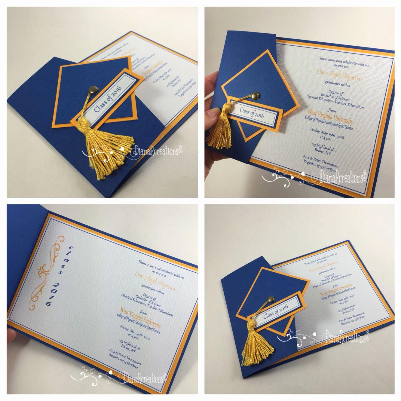 Homemade Graduation Invitation Ideas Best Of Graduation Invitations Dianarcreations Invitations