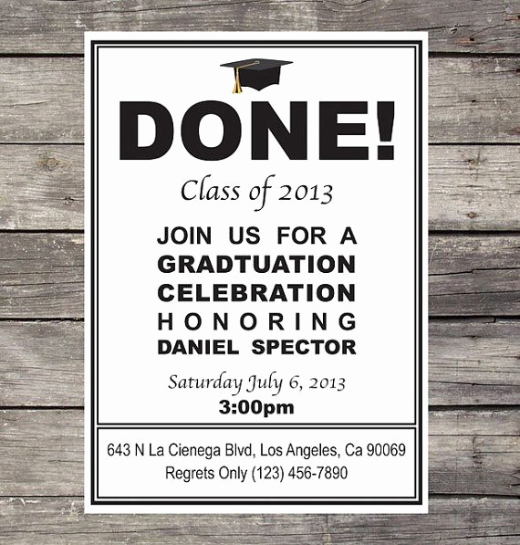 Homemade Graduation Invitation Ideas Lovely Diy Graduation Invitation