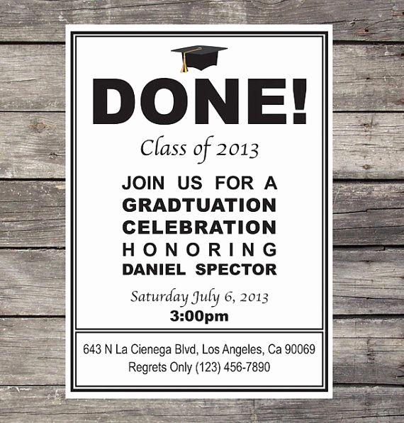 Homemade Graduation Invitation Ideas Lovely Diy Graduation Invitation