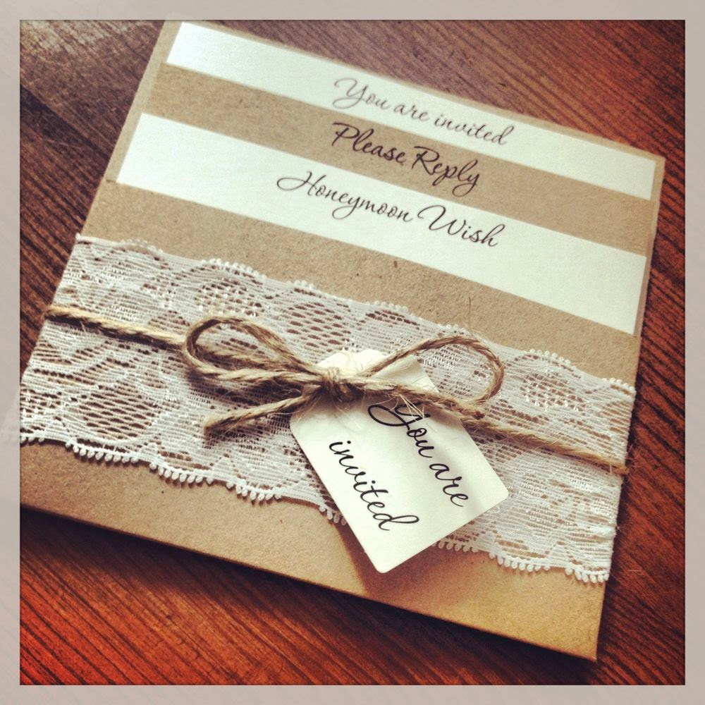 Homemade Wedding Invitation Ideas Beautiful Vintage Lace Wedding Invitations