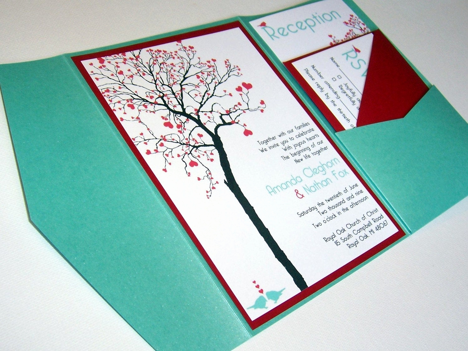 Homemade Wedding Invitation Ideas Luxury Wedding Invitation Diy Pocketfold Heart Tree Printable