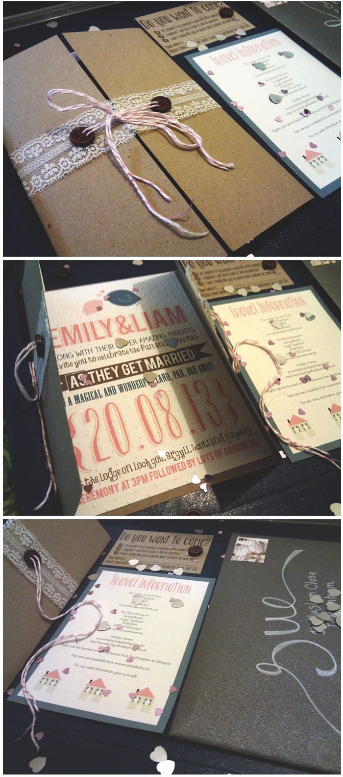 Homemade Wedding Invitation Ideas Unique 508 Best Images About Diy Wedding Invitations Ideas On