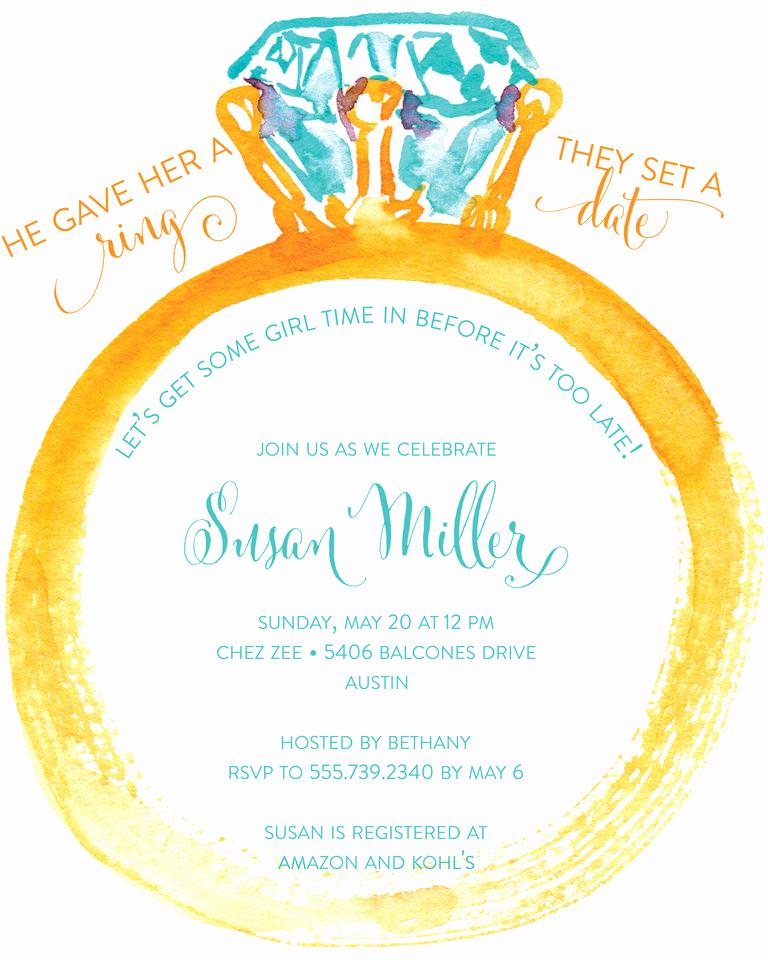 Honeymoon Shower Invitation Wording Elegant Bridal Shower Invitation Wording Ideas and Etiquette