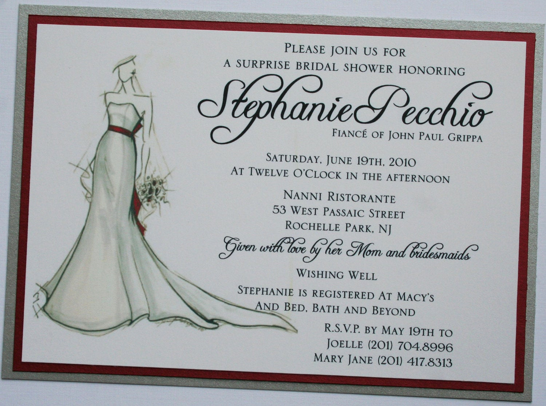 Honeymoon Shower Invitation Wording Inspirational Bridal Sketch Bridal Shower Invitation