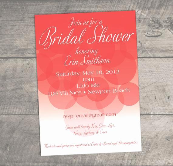 Honeymoon Shower Invitation Wording Lovely Items Similar to Bubbly Elegant and Fun Bridal Shower