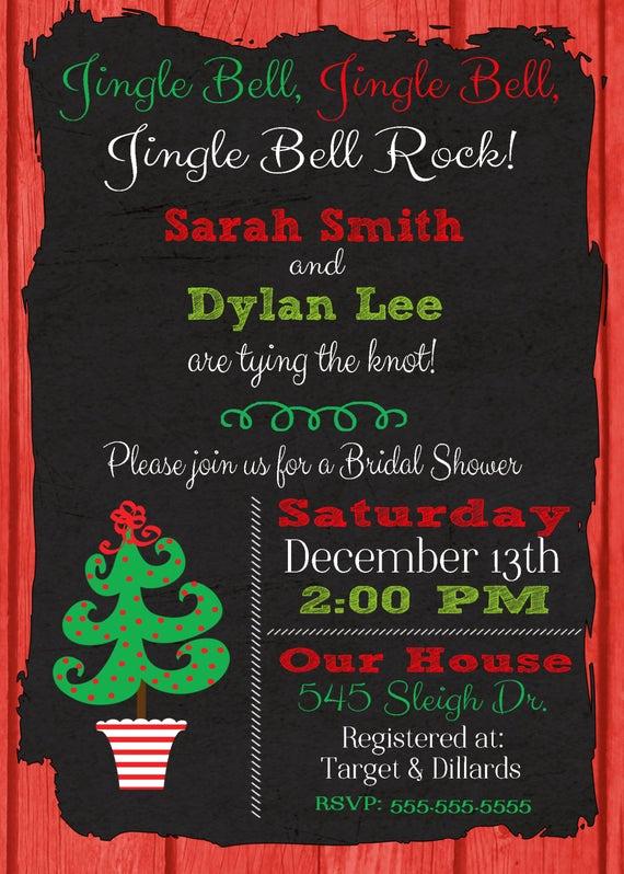 Honeymoon Shower Invitation Wording Lovely Items Similar to Christmas Bridal Shower Invitation