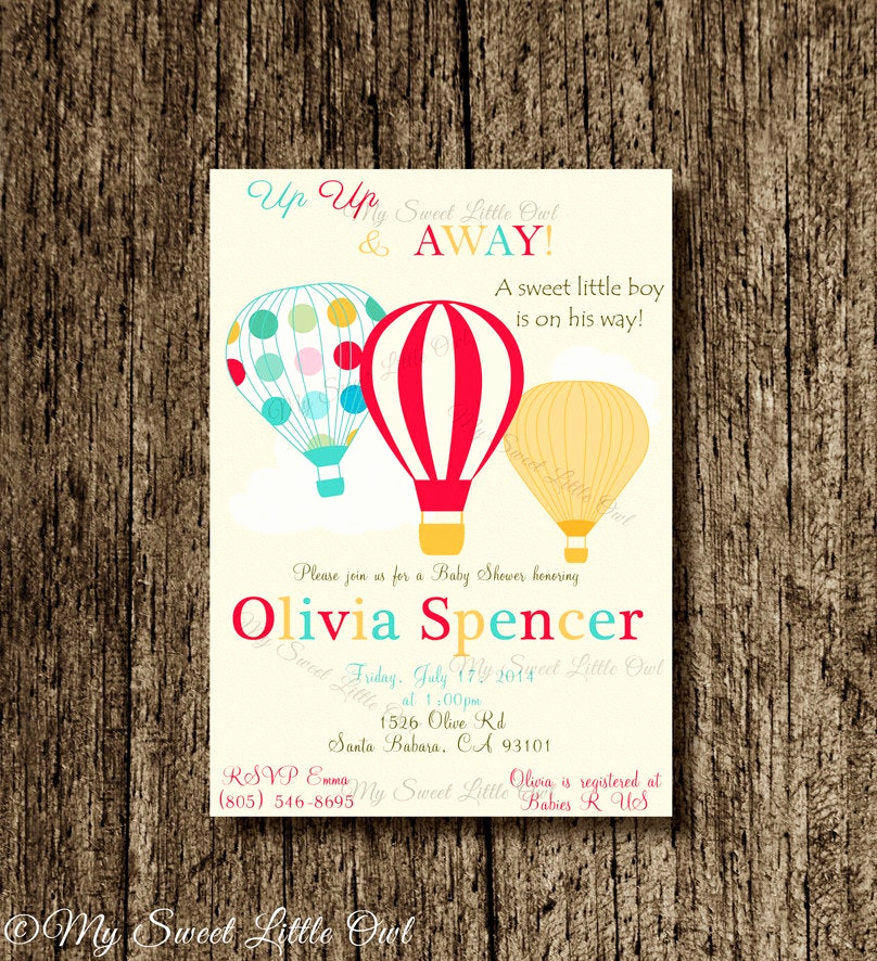 Hot Air Balloon Invitation Awesome Hot Air Balloon Invitation Balloon Printable Balloon