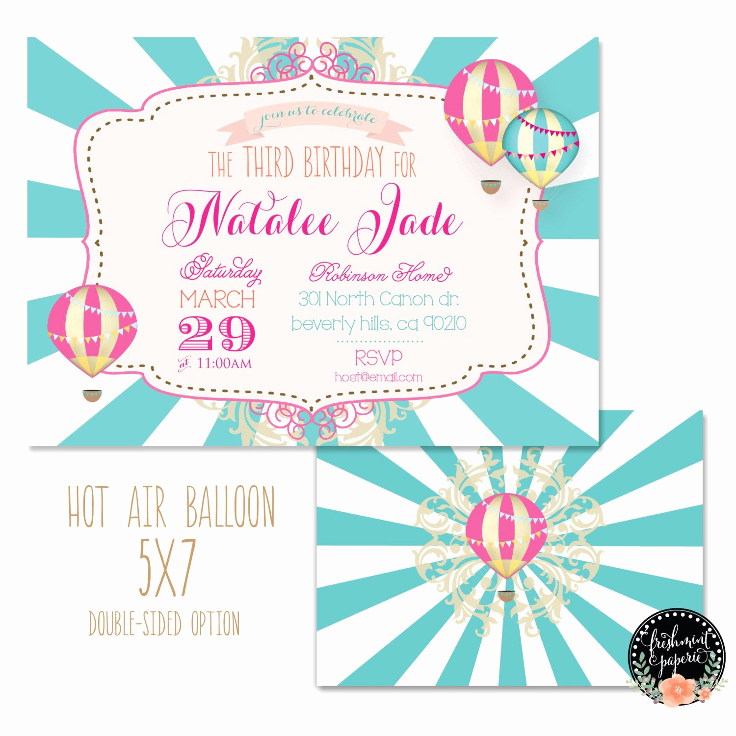 Hot Air Balloon Invitation Best Of Printable Invitations Hot Air Balloon Invitation Vintage