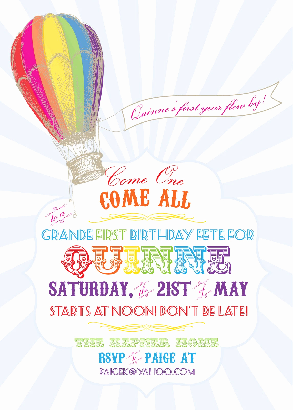 Hot Air Balloon Invitation Fresh Paiges Of Style Hot Air Balloon Invitaton Available In My