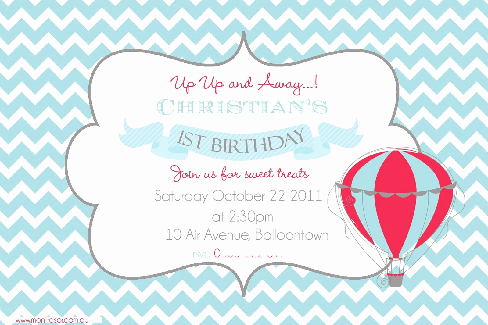 Hot Air Balloon Invitation Luxury Hello Naomi Up Up and Away