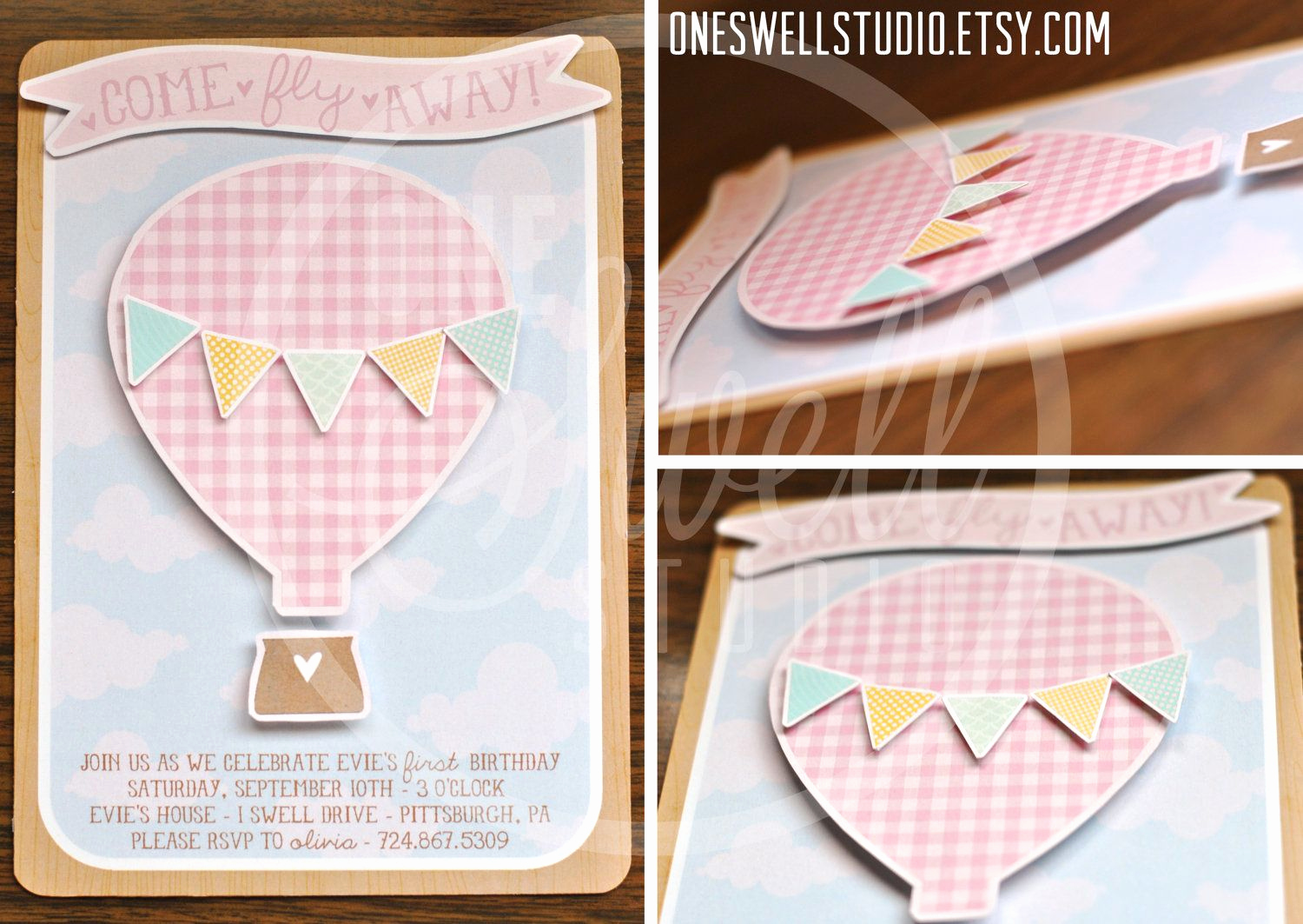 Hot Air Balloon Invitation New Three Dimensional Pop Up Hot Air Balloon Diy Printable