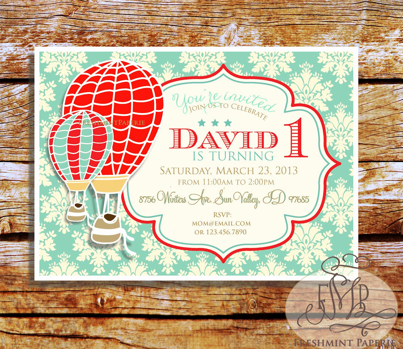 Hot Air Balloon Invitation Unique Printable Invitations Hot Air Balloon Invitation Vintage