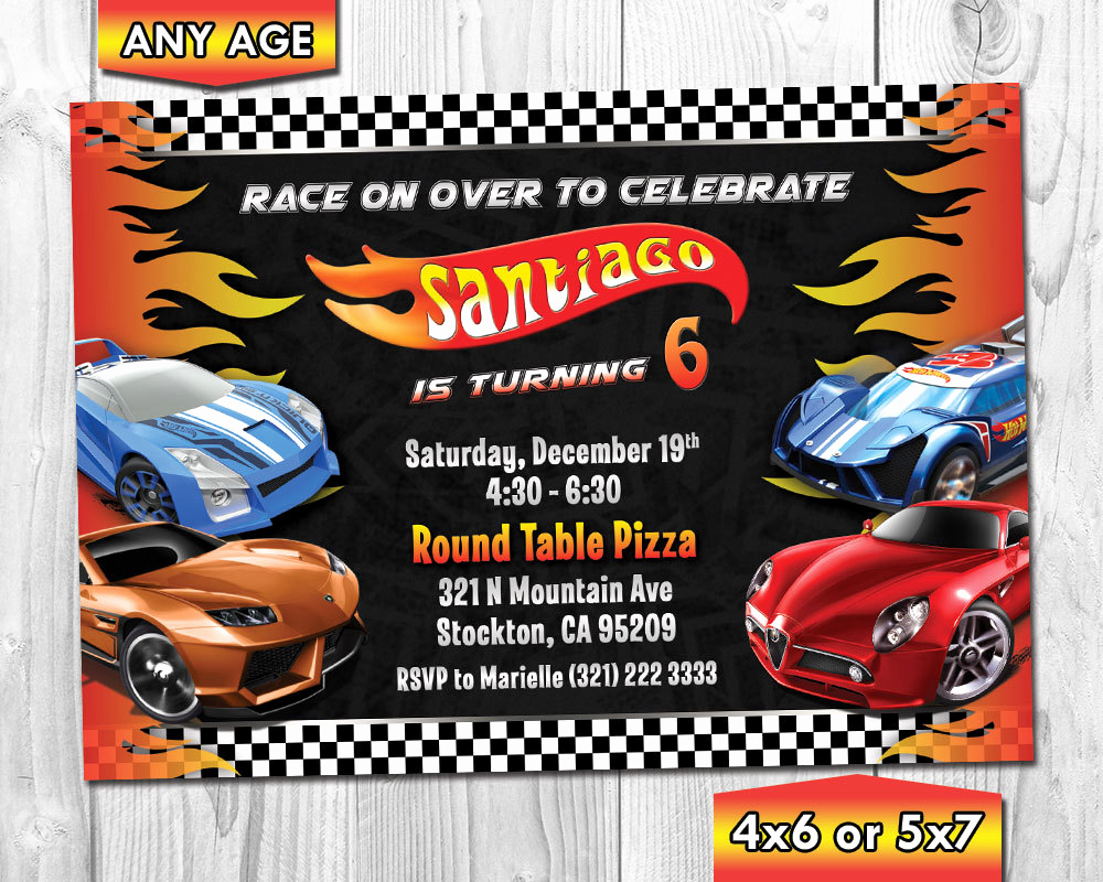 Hot Wheels Invitation Template Best Of Hot Wheels Birthday Invitation Hot Wheels Invitation