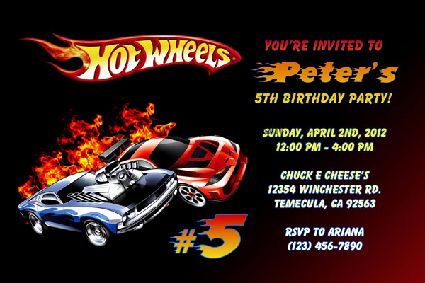 Hot Wheels Invitation Template Best Of Hot Wheels Invitations