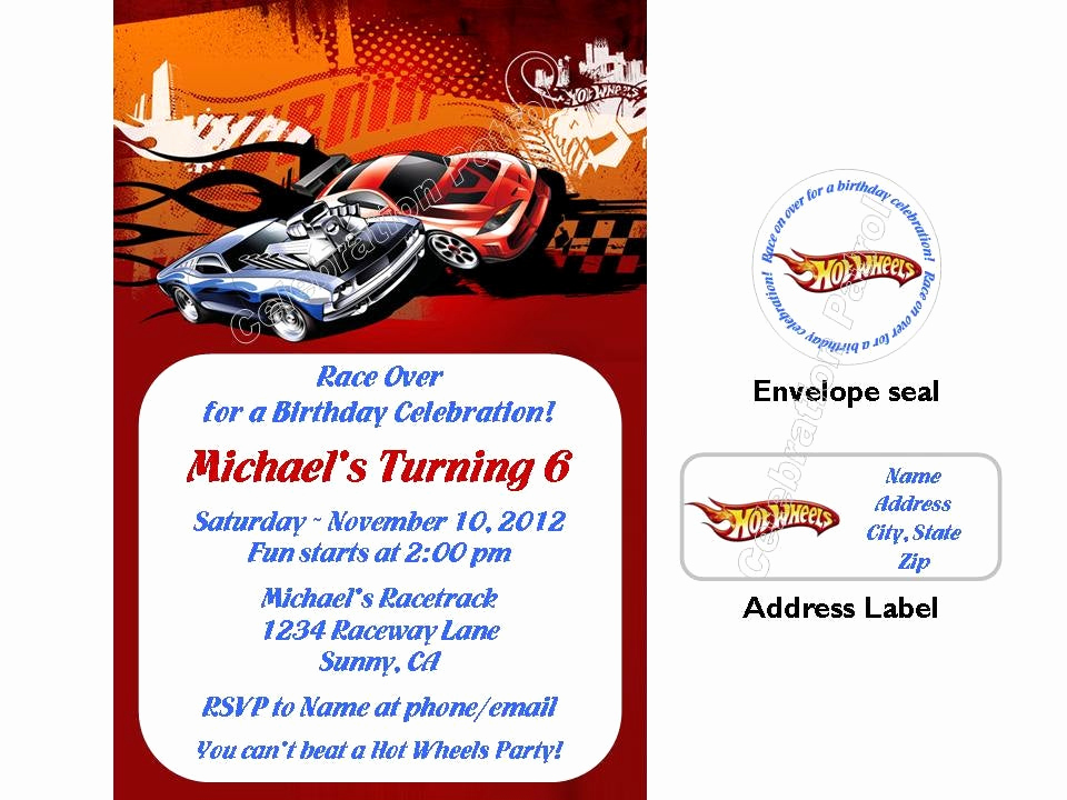 Hot Wheels Invitation Template Fresh Custom Off Road Wheels Frompo