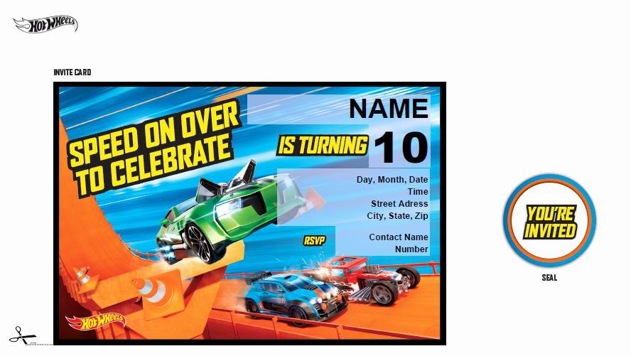 Hot Wheels Invitation Template New Hot Wheels Birthday Invitations Printable Free