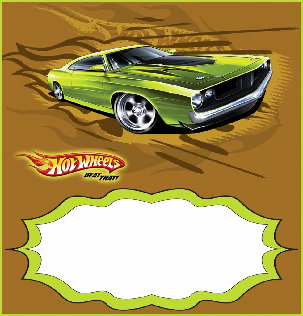 Hot Wheels Invitation Template Unique Custom Hot Wheels Invitation Template